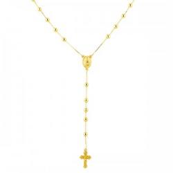 Rosário De Ouro 18k De 3,0mm Com 60cm - 100298 - Fábrica do Ouro