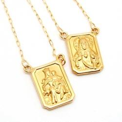 Escapulário De Ouro 18k Cartie Com 60cm - 100460 - Fábrica do Ouro