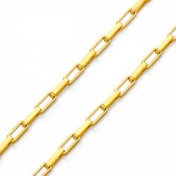Corrente De Ouro 18k Veneziana Longa De 0,8mm Com ... - Fábrica do Ouro