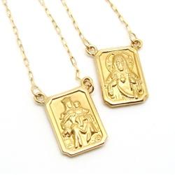 Escapulário De Ouro 18k Cartie Com 60cm - 100580 - Fábrica do Ouro