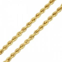 Corrente De Ouro 18k Corda De 2,1mm Com 60cm - 101... - Fábrica do Ouro