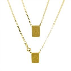 Escapulário De Ouro 18k Piastrine De 1,7mm Com 60c... - Fábrica do Ouro
