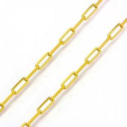 Corrente De Ouro 18k Cartie Longa De 3mm Com 60cm ... - Fábrica do Ouro