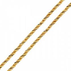 Corrente De Ouro 18k Corda Tricolor De 2,3mm Com 4... - Fábrica do Ouro