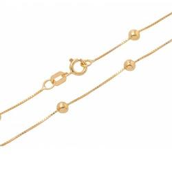Corrente De Ouro 18k Veneziana Com Bolinhas De 3,0... - Fábrica do Ouro