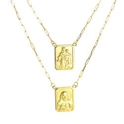 Escapulário De Ouro 18k Cartie Com 70cm - 100990 - Fábrica do Ouro