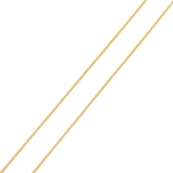 Corrente De Ouro 18k Groumet De 1mm Com 65cm - 102... - Fábrica do Ouro