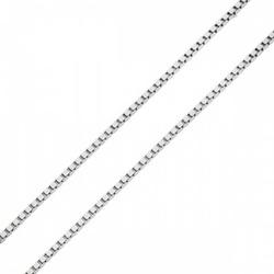 Corrente De Ouro Branco 18k Veneziana De 0,7mm Com... - Fábrica do Ouro
