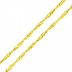 Corrente De Ouro 18k Infantil Malha Singapura De 0... - Fábrica do Ouro