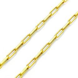 Corrente De Ouro 18k Cartie Ovalada De 2,5mm Com 7... - Fábrica do Ouro