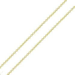 Corrente De Ouro 18k Elo Português De 1mm Com 40cm... - Fábrica do Ouro