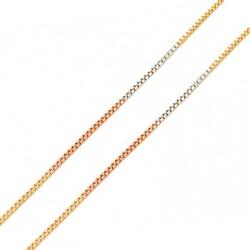 Corrente De Ouro Tricolor 18k Veneziana De 0,5mm C... - Fábrica do Ouro