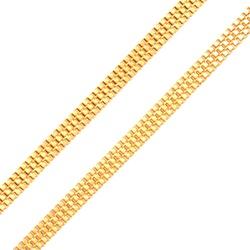 Corrente De Ouro 18k Veneziana Tripla De 1,5mm Com... - Fábrica do Ouro