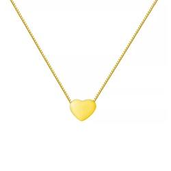 Corrente De Ouro 18k Veneziana Com 45cm e Coração ... - Fábrica do Ouro