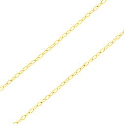 Corrente De Ouro 18k Elo Americano De 0,5mm Com 40... - Fábrica do Ouro
