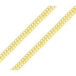 Corrente de Ouro 18k Lacraia de 3,7mm com 45cm - 1... - Fábrica do Ouro