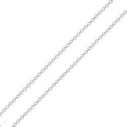 Corrente De Ouro Branco 18k Elo Português De 1mm C... - Fábrica do Ouro