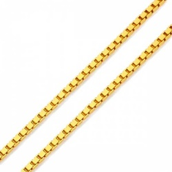Corrente De Ouro 18k Veneziana De 1,3mm Com 45cm -... - Fábrica do Ouro
