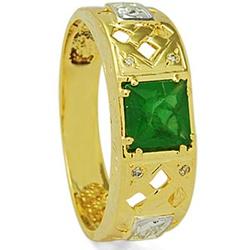 Anel De Formatura De Ouro 18k Dubai - Unissex - 10... - Fábrica do Ouro