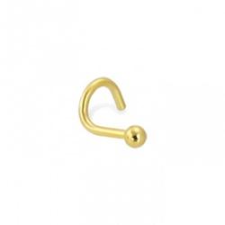 Piercing De Nariz De Ouro 18k Bolinha - 100299 - Fábrica do Ouro