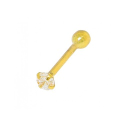 Piercing Para Nariz De Ouro 18k Com Zircônia De 1,... - Fábrica do Ouro