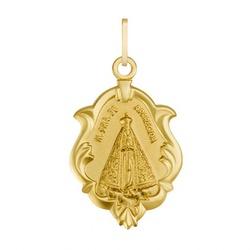 Pingente De Ouro 18k Medalha De Nossa Senhora Da A... - Fábrica do Ouro