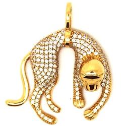 Pingente De Ouro 18k Pantera Pequena - 101778 - Fábrica do Ouro