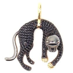 Pingente De Ouro 18k Pantera Negra Pequena - 10177 - Fábrica do Ouro