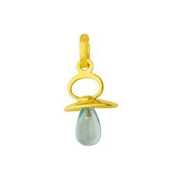 Pingente De Ouro 18k Chupeta Com Zircônia - 100728 - Fábrica do Ouro