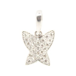 Pingente De Ouro Branco 18k Borboleta Com Diamante... - Fábrica do Ouro