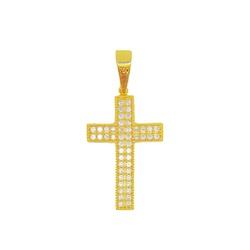 Pingente De Ouro 18k Cruz Com 27mm - 100856 - Fábrica do Ouro
