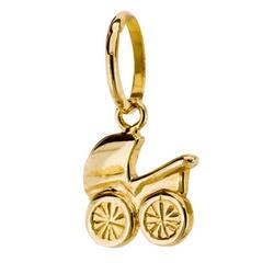 Pingente De Ouro 18k Carrinho De Bebe De 10mm - 10... - Fábrica do Ouro