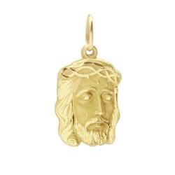 Pingente De Ouro 18k Face De Cristo De 21mm - 1009... - Fábrica do Ouro