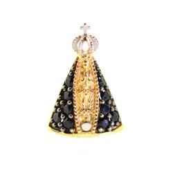 Pingente De Ouro 18k Nossa Senhora Da Aparecida Co... - Fábrica do Ouro
