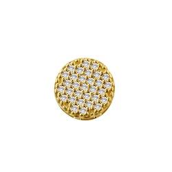 Pingente De Ouro 18k Chuveiro De Zircônias - 10111... - Fábrica do Ouro