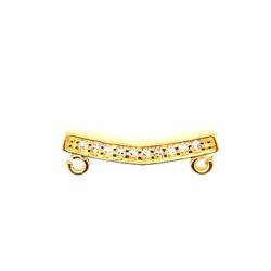 Canga De Ouro 18k Dupla Com Zircônias - 101118 - Fábrica do Ouro