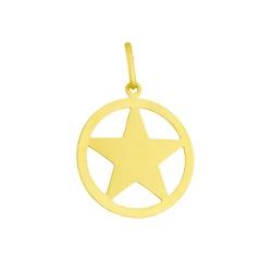 Pingente De Ouro 18k Pentagrama De 15mm - 101156 - Fábrica do Ouro