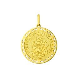 Pingente De Ouro 18k São Bento Trabalhado - 101301 - Fábrica do Ouro