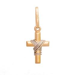 Pingente De Ouro 18k Cruz Com Fio Branco De 12mm -... - Fábrica do Ouro