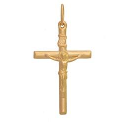 Pingente De Ouro 18k Crucifixo Com 35mm - 101563 - Fábrica do Ouro