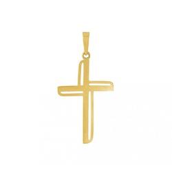 Pingente De Ouro 18k Cruz - 101592 - Fábrica do Ouro