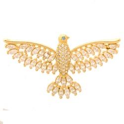 Pingente De Ouro 18k Espírito Santo Com Zircônias ... - Fábrica do Ouro