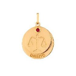 Pingente De Ouro 18k Formatura De Direito Com Zirc... - Fábrica do Ouro