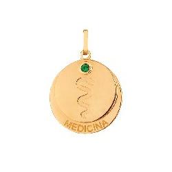 Pingente De Ouro 18k Formatura De Medicina Com Zir... - Fábrica do Ouro