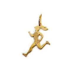 Pingente De Ouro 18k Atletismo Feminino - 101933 - Fábrica do Ouro