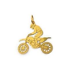Pingente De Ouro 18k Motocross - 101936 - Fábrica do Ouro