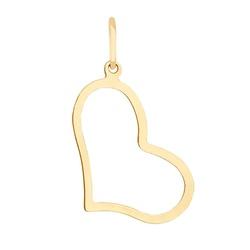 Pingente De Ouro 18k Coração Grande - 101962 - Fábrica do Ouro