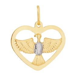 Pingente De Ouro 18k Espírito Santo Com Coração - ... - Fábrica do Ouro