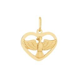 Pingente De Ouro 18k Espírito Santo Com Coração Pe... - Fábrica do Ouro