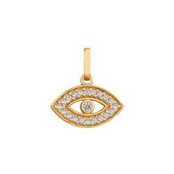 Pingente De Ouro 18k Olho Grego Com Zircônias - 10... - Fábrica do Ouro